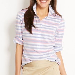 Vineyard Vines Mearwater Striped Popover Blouse